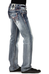 ROCK REVIVAL GORDIAN STRAIGHT CUT JEAN