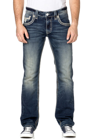 ROCK REVIVAL RONALD STRAIGHT CUT JEAN