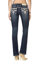 ROCK REVIVAL ROYAL BOOT CUT JEAN