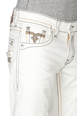 Rock Revival Jed Straight White Jean