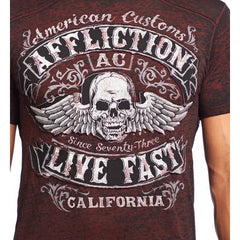 Affliction Inquisition S/S 50/50 Crewneck Tee