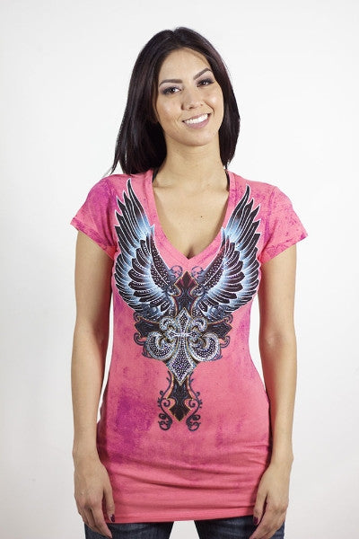 Angels & Diamonds V-Neck T-Shirt AD-232