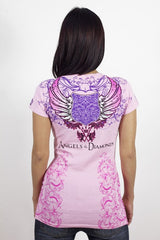 Angels & Diamonds V-Neck T-Shirt AD-249