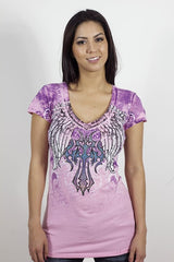 Angels & Diamonds V-Neck T-Shirt AD-293
