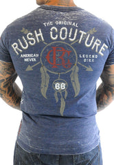 Rush Couture American Indian Blue T-Shirt