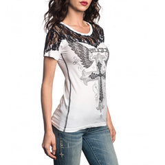 Affliction Sacred Cross SS Womens