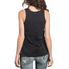 Affliction Zacapu Tank w/ Side Tie-Up Womens