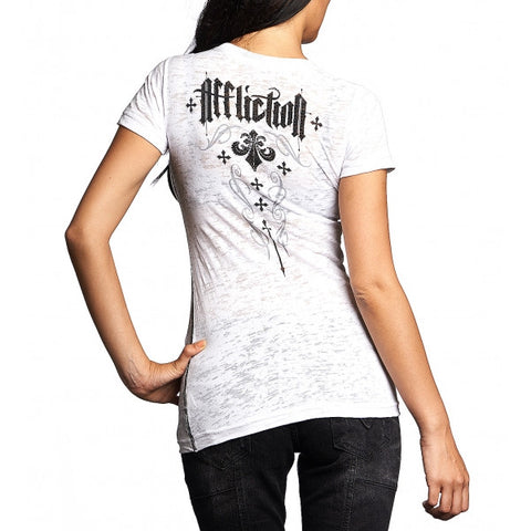AFFLICTION CASHMERE S/S 50/50 BABY TEE