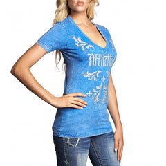 AFFLICTION JOCELYN S/S VNECK TEE