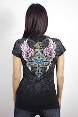 Angels & Diamonds V-Neck T-Shirt AD-236