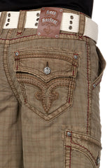 Rock Revival Toffee Plaid Colored Short