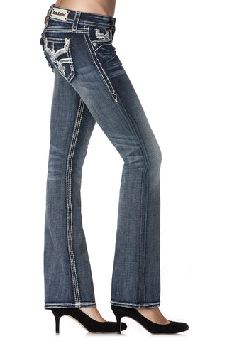 Rock Revival Ladies Maria Woven Boot Jeans