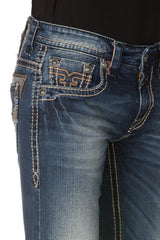 Rock Revival Victor Medium Wash Straight Cut Jean