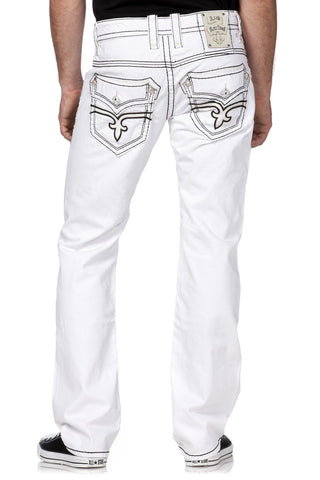 Rock Revival Dan Straight White Stitch Pants
