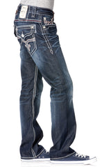 Rock Revival Grayson Dark Wash Straight Jean