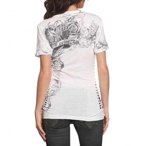 Sinful Chastity S/S V-Neck Tee