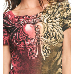 Sinful Devious Angel S/S Scoop Neck