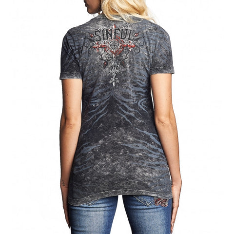 SINFUL UNDYING FAITH S/S REV.VNECK T