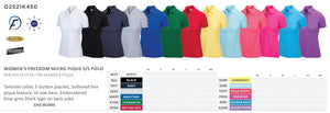 Greg Norman Womens' Tournament Polo options - 16 players minimum