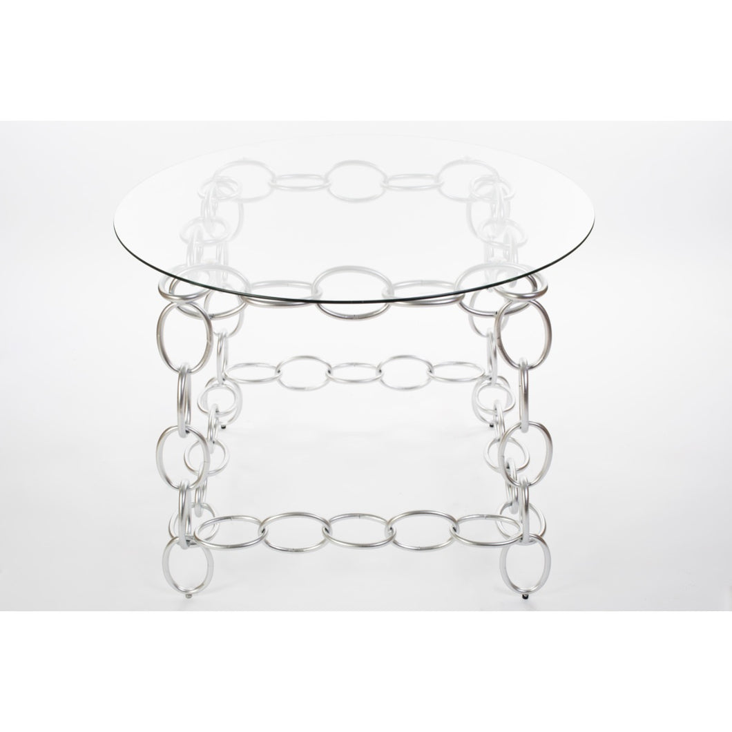 Chainer Entrance Table - Silver
