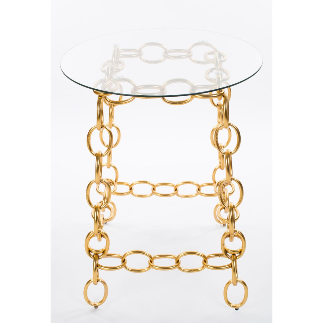 Chainer Side Table - Gold
