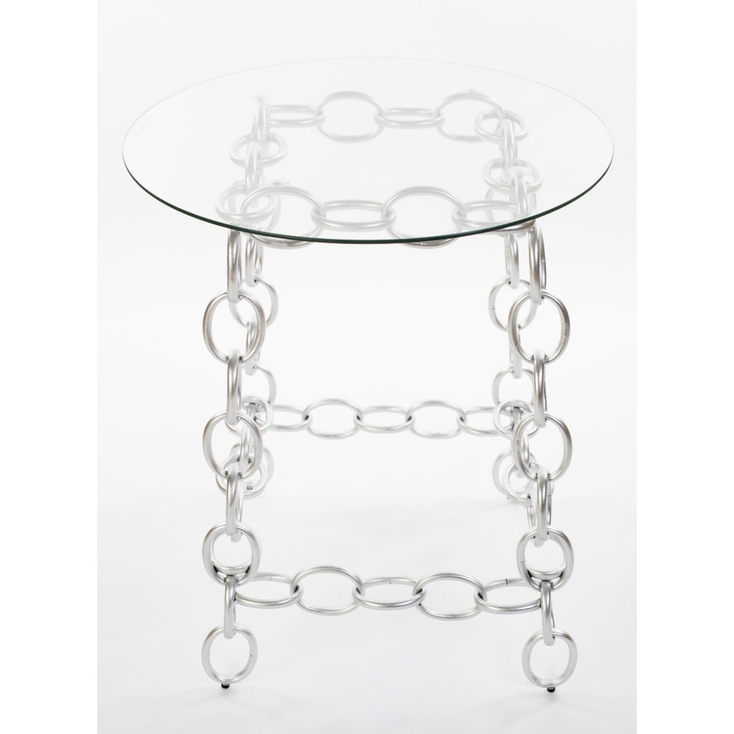 Chainer Side Table - Silver
