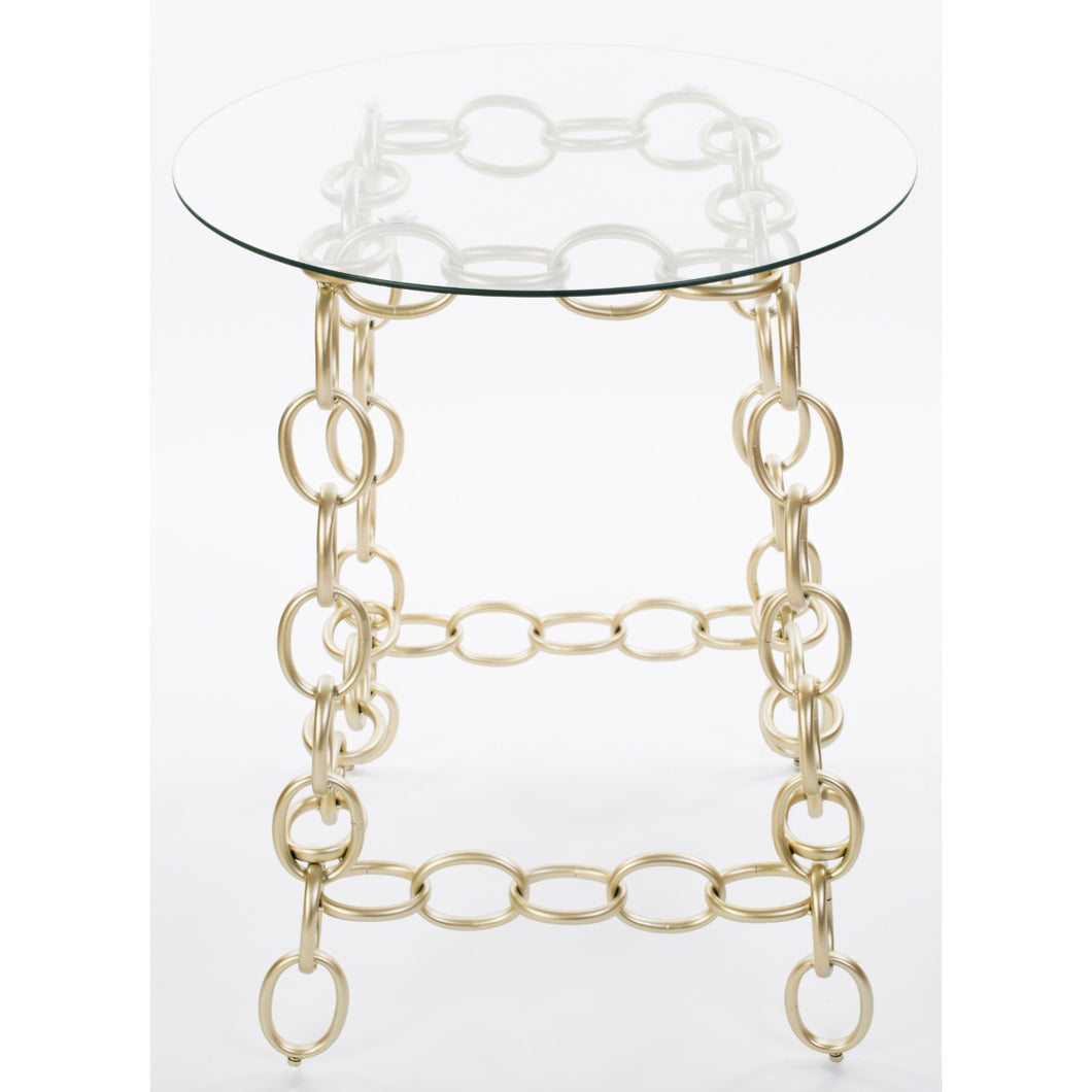 Chainer Side Table - Champagne