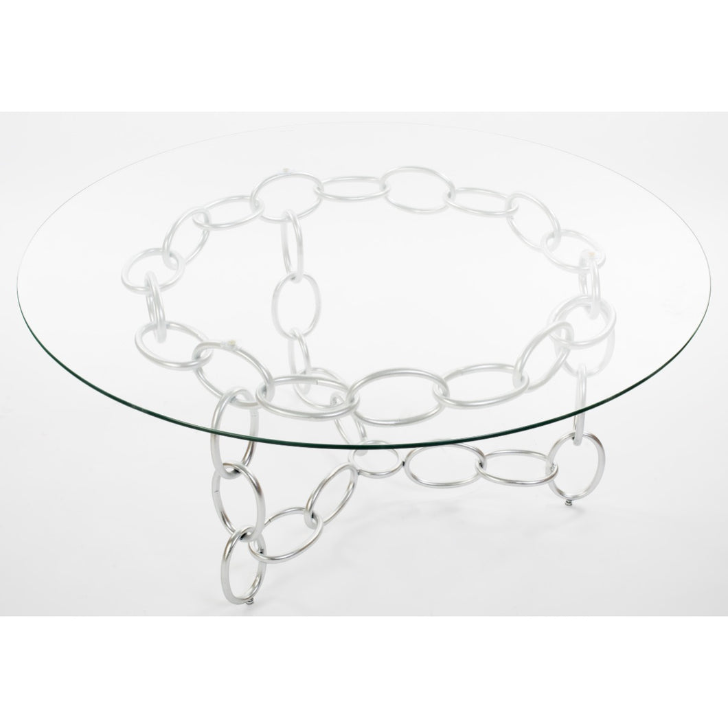 Chainer Center Table - Silver