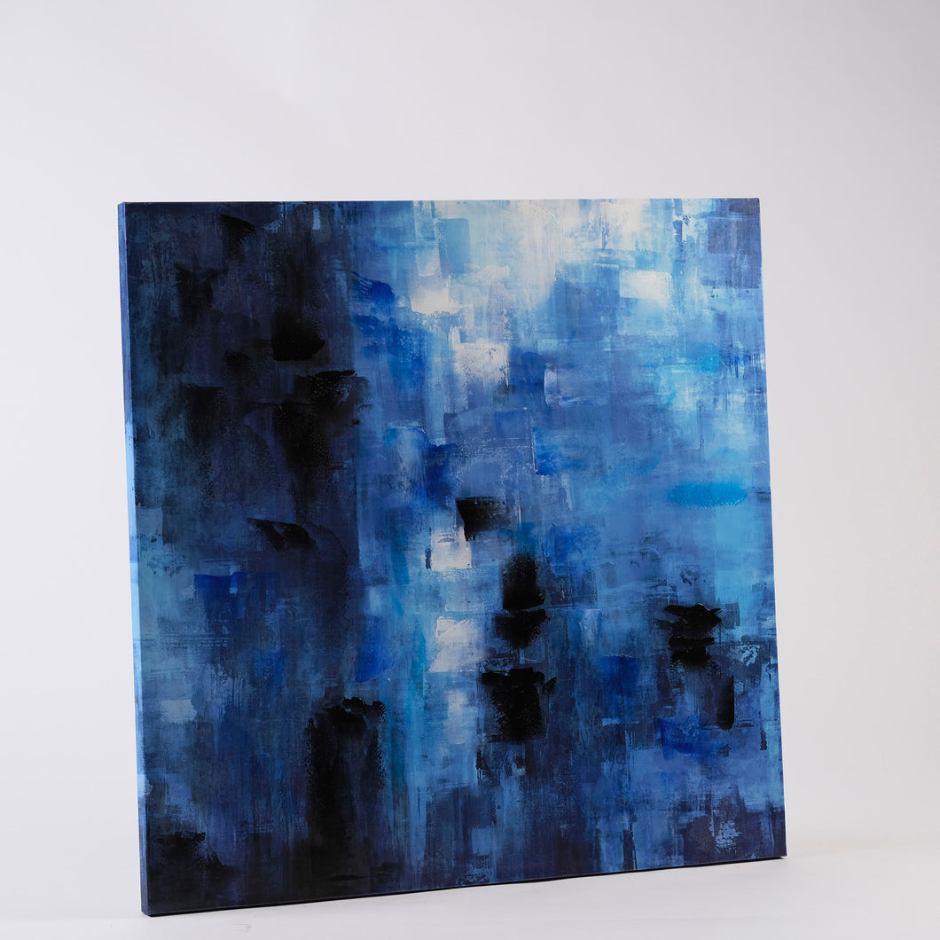 Abstract Square - Blue
