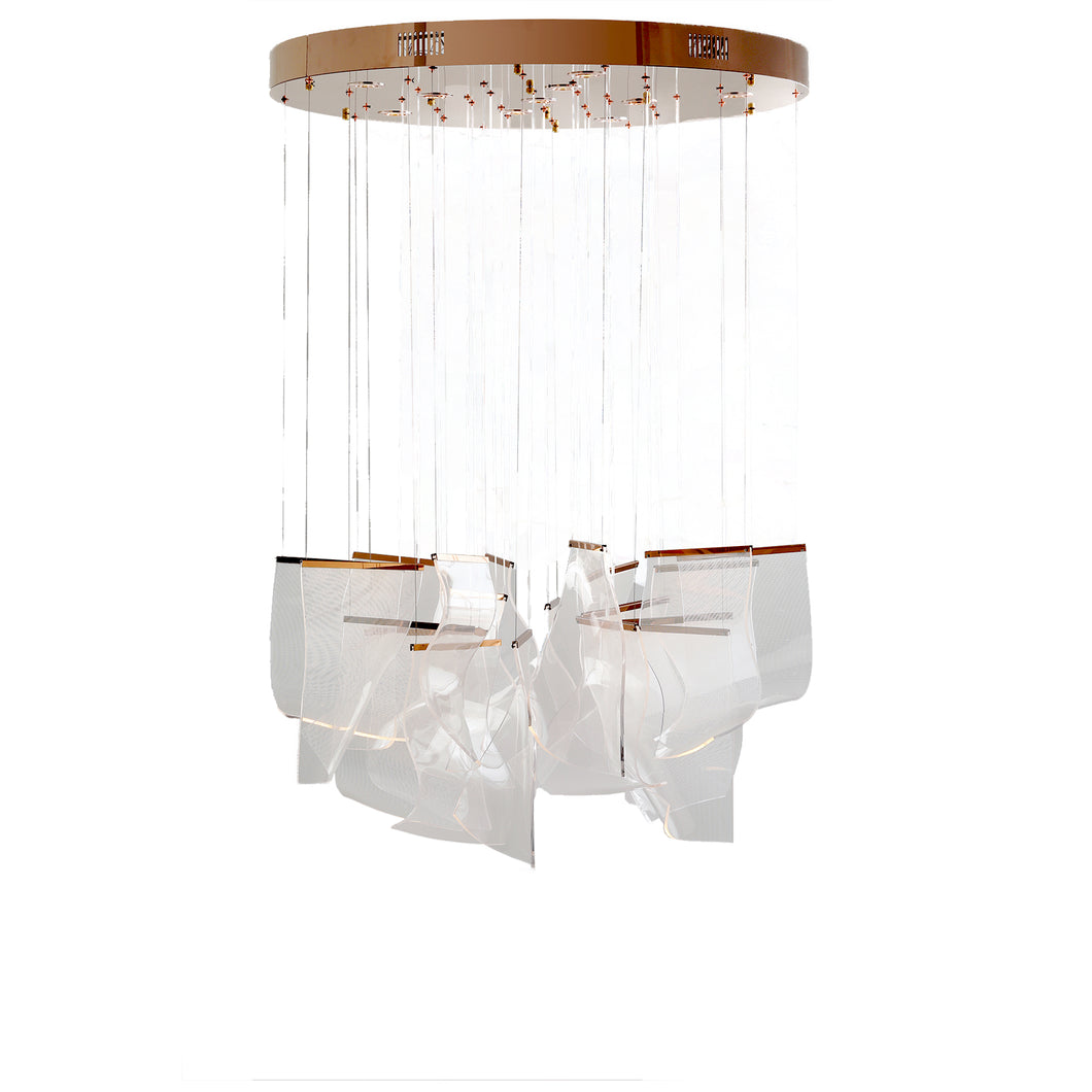 Wave Papers Ceiling Lamp