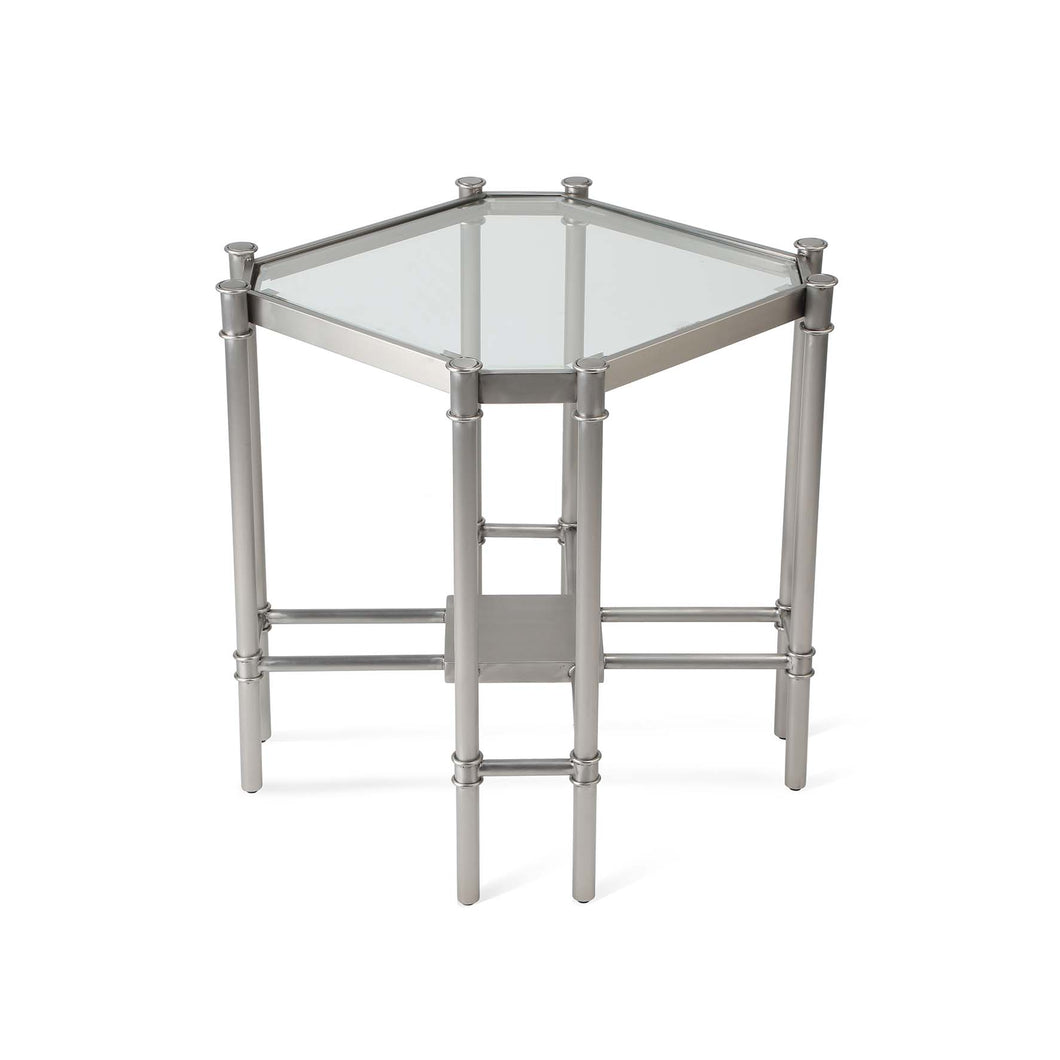 Lavasa Side Table - Silver