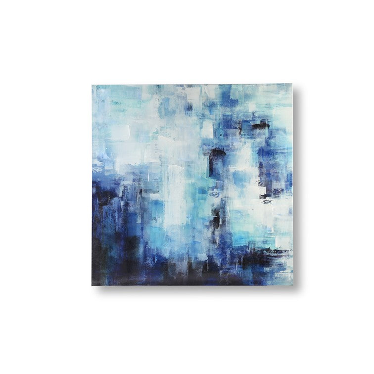 Abstract Square - Blue & White
