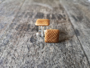 Irish Whiskey Barrel Cufflinks & Tie Clip Set from Whiskey Woodcraft