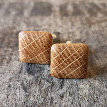 Load image into Gallery viewer, Irish Whiskey Barrel Wooden Cufflinks from Whiskey Woodcraft