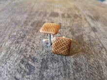 Load image into Gallery viewer, Irish Whiskey Barrel Wooden Cufflinks