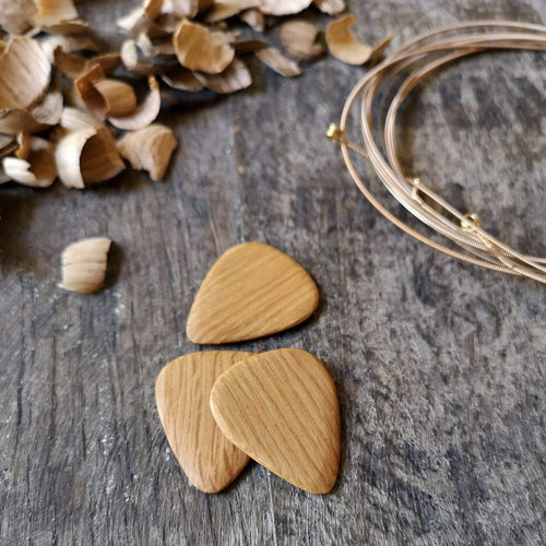 Irish Whiskey Barrel Guitar Pick Set from Whiskey Woodcraft