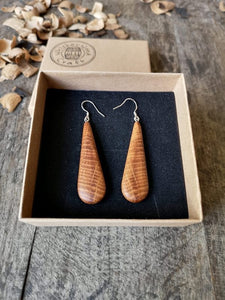 Irish Whiskey Barrel Tear Drop Earrings