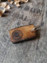 Load image into Gallery viewer, Irish Whiskey Barrel Wooden Cufflinks with Keyring