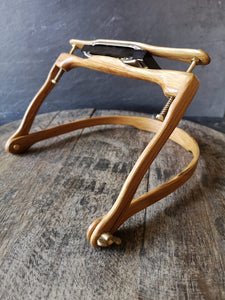 Irish Whiskey Barrel Wooden Harmonica Holder