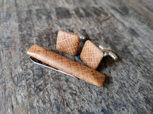 Load image into Gallery viewer, Irish Whiskey Barrel Cufflinks & Tie Clip Set from Whiskey Woodcraft