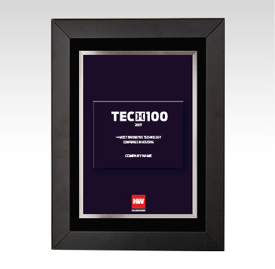 2017 HW TECH100 Framed Award