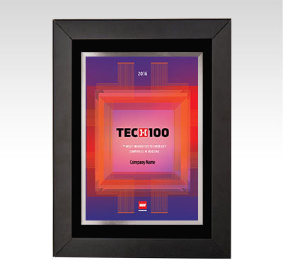 2016 HW TECH100 Framed Award