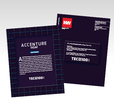 2017 HW TECH100 Company Spotlight Printed Brochure