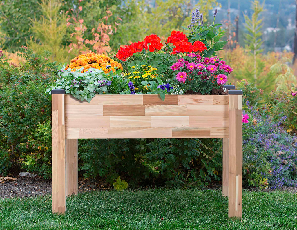 "Elevated Cedar Planter (23"" x 49"" x 30""H)"
