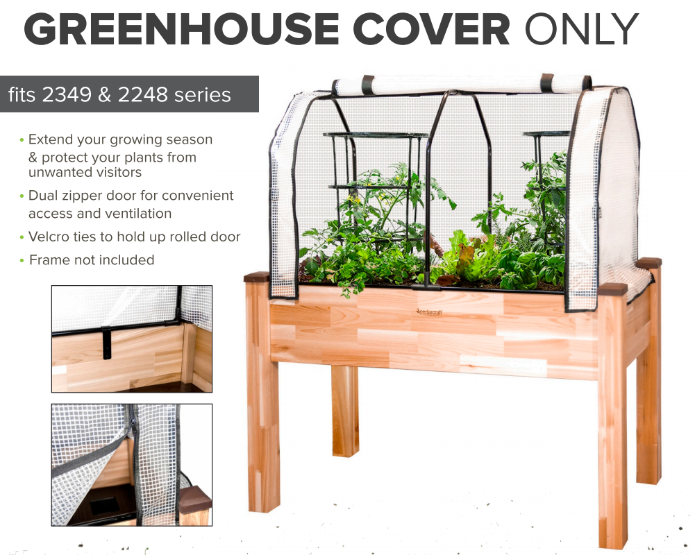 "Replacement Greenhouse Cover for 23"" x 49"" Planters"