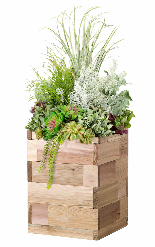"Cedar Patio Planter 12"" x 12"" x 16""H"