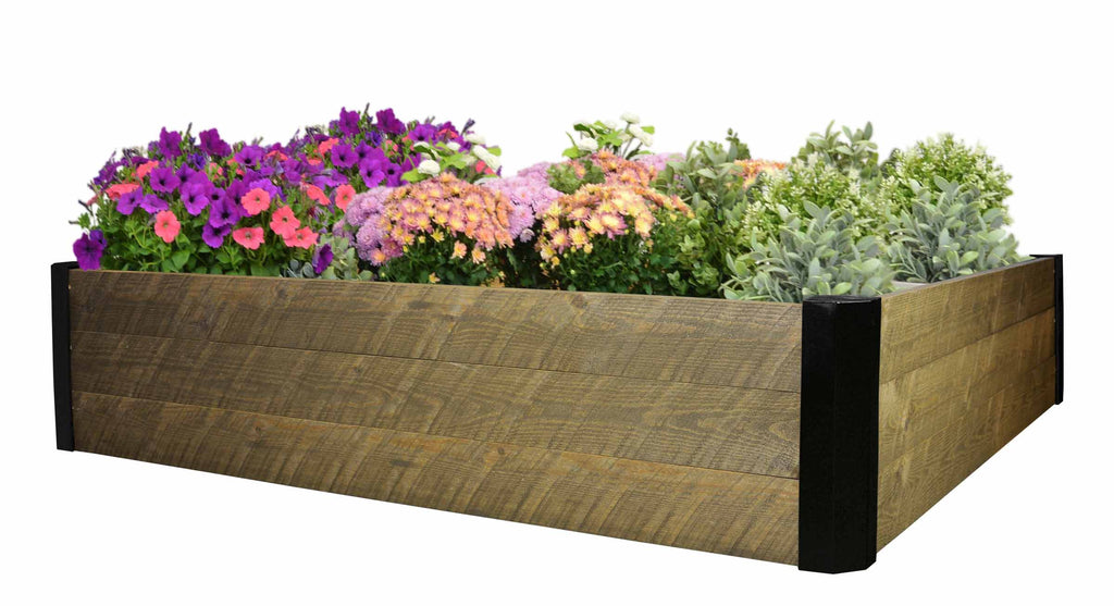 "Raised Spruce Garden Bed (48 x 48 x 10.5""H) - Brown"
