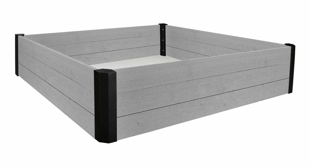 "Raised Spruce Garden Bed (48 x 48 x 10.5""H) - Gray"