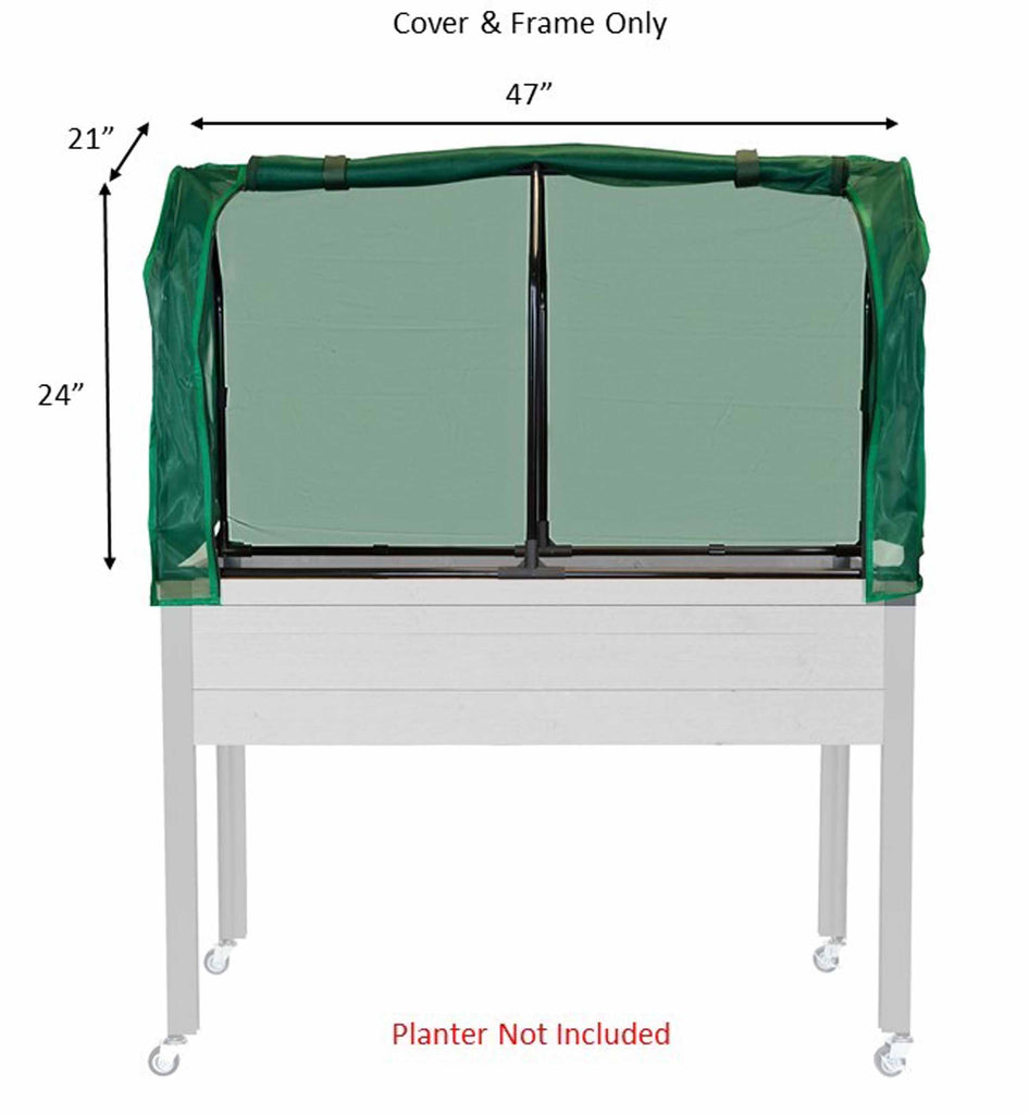 "Greenhouse & Bug Cover Combo (21"" x 47"" x 24""H)"