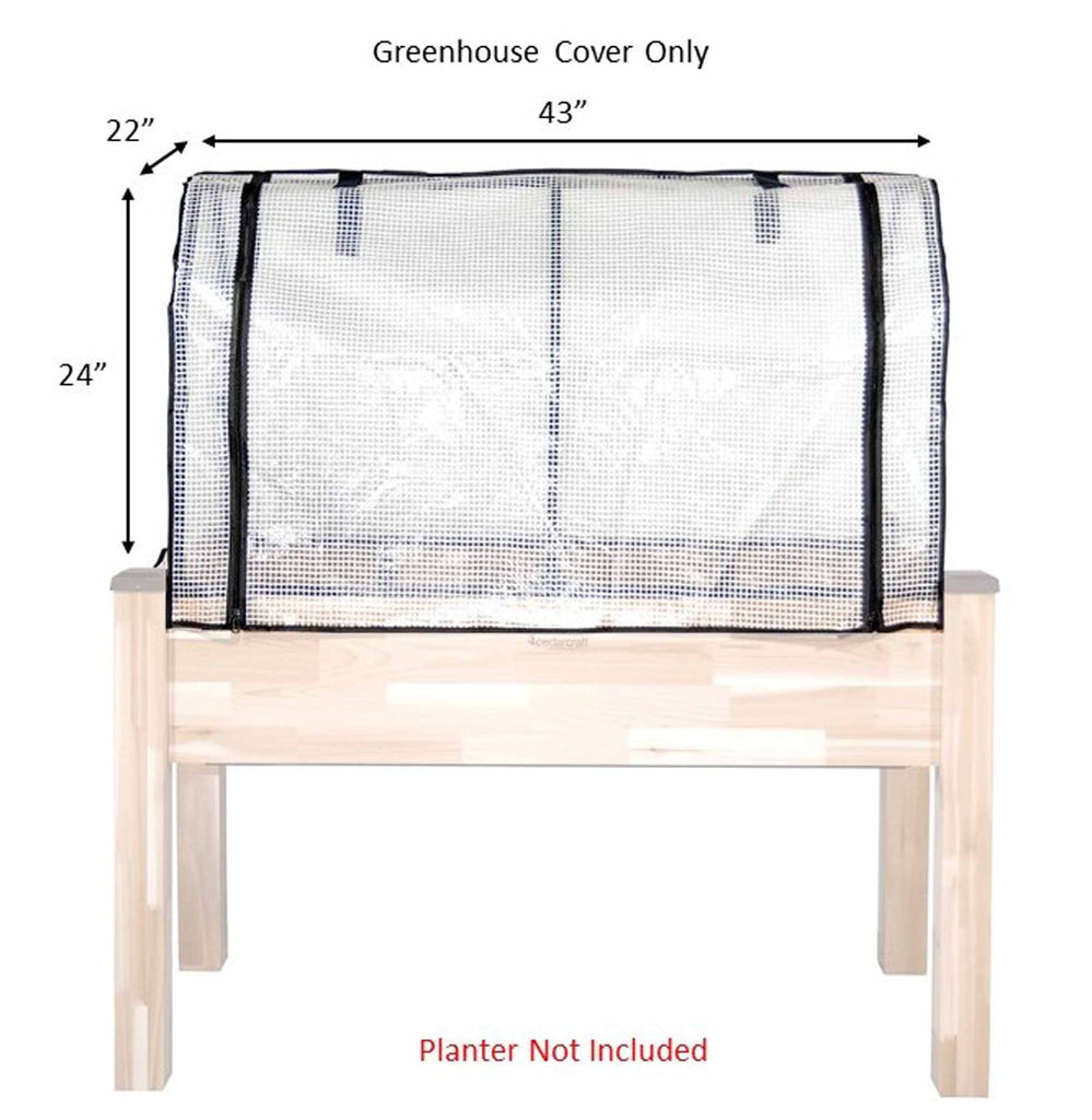 "Greenhouse Cover for 23"" x 49"" Planters"